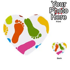 Lip Handprint Multi Purpose Cards (heart)  by AnjaniArt