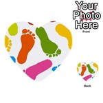 Lip Handprint Multi-purpose Cards (Heart)  Front 25