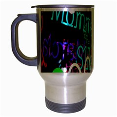Miami Text Travel Mug (Silver Gray) by AnjaniArt