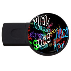 Miami Text Usb Flash Drive Round (4 Gb)  by AnjaniArt