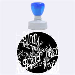 Miami Text Rubber Round Stamps (large)