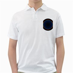 Flower Of Life Golf Shirts by Zeze