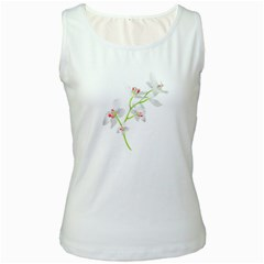 Isolated Orquideas Blossom Women s White Tank Top by dflcprints