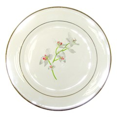 Isolated Orquideas Blossom Porcelain Plates by dflcprints