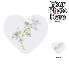 Isolated Orquideas Blossom Multi Purpose Cards (heart)  by dflcprints