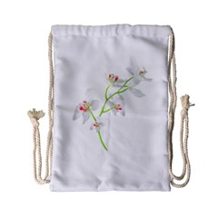 Isolated Orquideas Blossom Drawstring Bag (small) by dflcprints