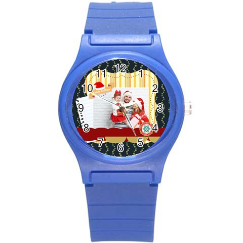 Xmas Merry Christmas By 2016   Round Plastic Sport Watch (s)   6nsimspai9ry   Www Artscow Com Front