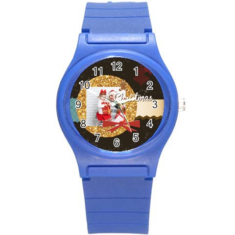 Xmas Merry Christmas By 2016   Round Plastic Sport Watch (s)   8r887q4s9uka   Www Artscow Com Front