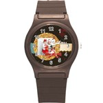 xmas merry christmas - Round Plastic Sport Watch (S)