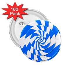 Swirl 2.25  Buttons (100 pack)  by Zeze