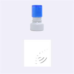 Swirl Rubber Round Stamps (Small) by Zeze