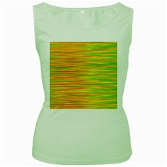 Green and oragne Women s Green Tank Top by Valentinaart