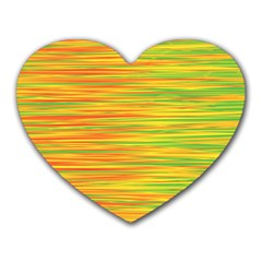 Green And Oragne Heart Mousepads by Valentinaart