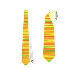 Green And Oragne Neckties (one Side)  by Valentinaart