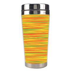 Green And Oragne Stainless Steel Travel Tumblers by Valentinaart