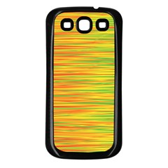 Green And Oragne Samsung Galaxy S3 Back Case (black) by Valentinaart
