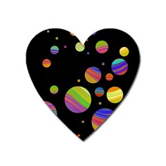 Colorful Galaxy Heart Magnet by Valentinaart
