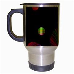 Colorful Galaxy Travel Mug (silver Gray) by Valentinaart