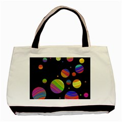 Colorful Galaxy Basic Tote Bag by Valentinaart