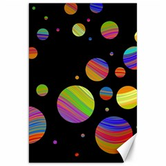 Colorful Galaxy Canvas 20  X 30   by Valentinaart