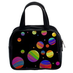 Colorful Galaxy Classic Handbags (2 Sides) by Valentinaart