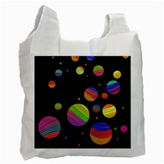 Colorful Galaxy Recycle Bag (one Side) by Valentinaart