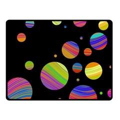 Colorful Galaxy Fleece Blanket (small) by Valentinaart