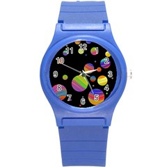 Colorful Galaxy Round Plastic Sport Watch (s) by Valentinaart