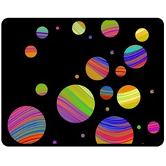 Colorful Galaxy Double Sided Fleece Blanket (medium)  by Valentinaart