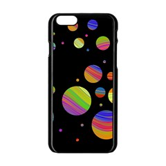 Colorful Galaxy Apple Iphone 6/6s Black Enamel Case by Valentinaart