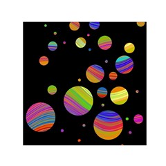 Colorful Galaxy Small Satin Scarf (square) by Valentinaart