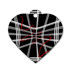 Not So Simple 2 Dog Tag Heart (two Sides) by Valentinaart