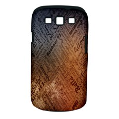 Typography Samsung Galaxy S III Classic Hardshell Case (PC+Silicone) by Zeze