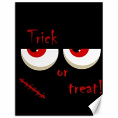 Halloween  trick Or Treat    Monsters Red Eyes Canvas 12  X 16   by Valentinaart