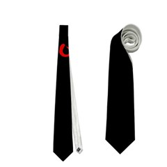 Halloween  trick Or Treat    Monsters Red Eyes Neckties (two Side)  by Valentinaart