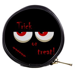 Halloween  trick Or Treat    Monsters Red Eyes Mini Makeup Bags by Valentinaart