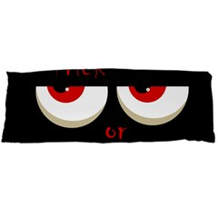 Halloween  trick Or Treat    Monsters Red Eyes Body Pillow Case Dakimakura (two Sides) by Valentinaart