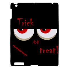 Halloween  trick Or Treat    Monsters Red Eyes Apple Ipad 3/4 Hardshell Case by Valentinaart