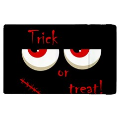 Halloween  trick Or Treat    Monsters Red Eyes Apple Ipad 3/4 Flip Case by Valentinaart