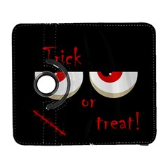Halloween  trick Or Treat    Monsters Red Eyes Samsung Galaxy S  Iii Flip 360 Case by Valentinaart