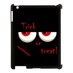 Halloween  trick Or Treat    Monsters Red Eyes Apple Ipad 3/4 Case (black) by Valentinaart