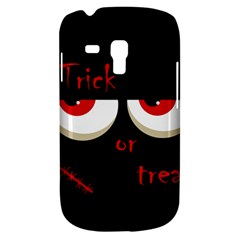 Halloween  trick Or Treat    Monsters Red Eyes Samsung Galaxy S3 Mini I8190 Hardshell Case by Valentinaart