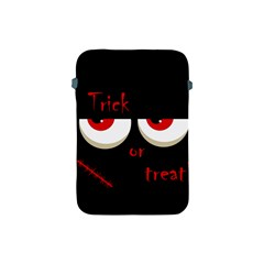 Halloween  trick Or Treat    Monsters Red Eyes Apple Ipad Mini Protective Soft Cases by Valentinaart