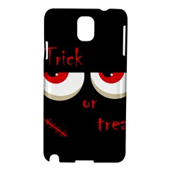 Halloween  trick Or Treat    Monsters Red Eyes Samsung Galaxy Note 3 N9005 Hardshell Case by Valentinaart