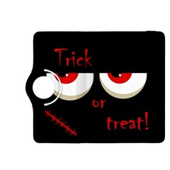 Halloween  trick Or Treat    Monsters Red Eyes Kindle Fire Hdx 8 9  Flip 360 Case by Valentinaart