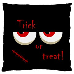 Halloween  trick Or Treat    Monsters Red Eyes Standard Flano Cushion Case (one Side) by Valentinaart