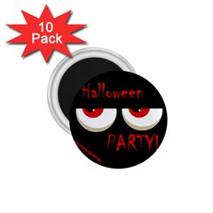 Halloween Party   Red Eyes Monster 1 75  Magnets (10 Pack)  by Valentinaart