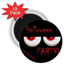 Halloween Party   Red Eyes Monster 2 25  Magnets (10 Pack)  by Valentinaart