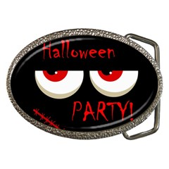 Halloween Party   Red Eyes Monster Belt Buckles by Valentinaart