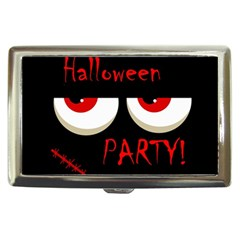 Halloween Party   Red Eyes Monster Cigarette Money Cases by Valentinaart